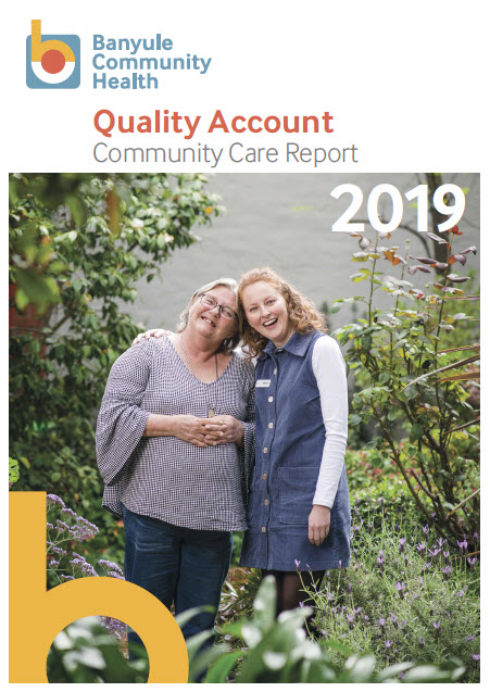 Quality Account 2019 front cover